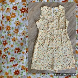 Vintage Express Wrap Dress Romper 90s Ditsy Floral